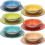 Tognana Art & Pepper Stoneware - Vajilla de 18 piezas, multicolor