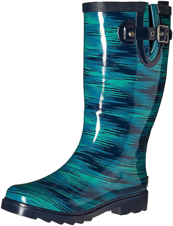 Chooka Women's Tall Rain Boot B01BUENTYI 9 B(M) US Electric Ikat