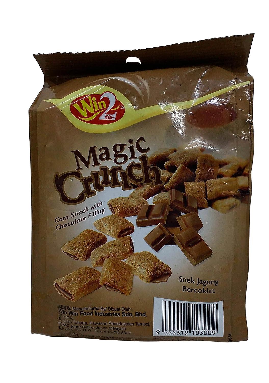 Win2 Magic Crunch Corn Snacks - Chocolate Filling, 70g Pouch