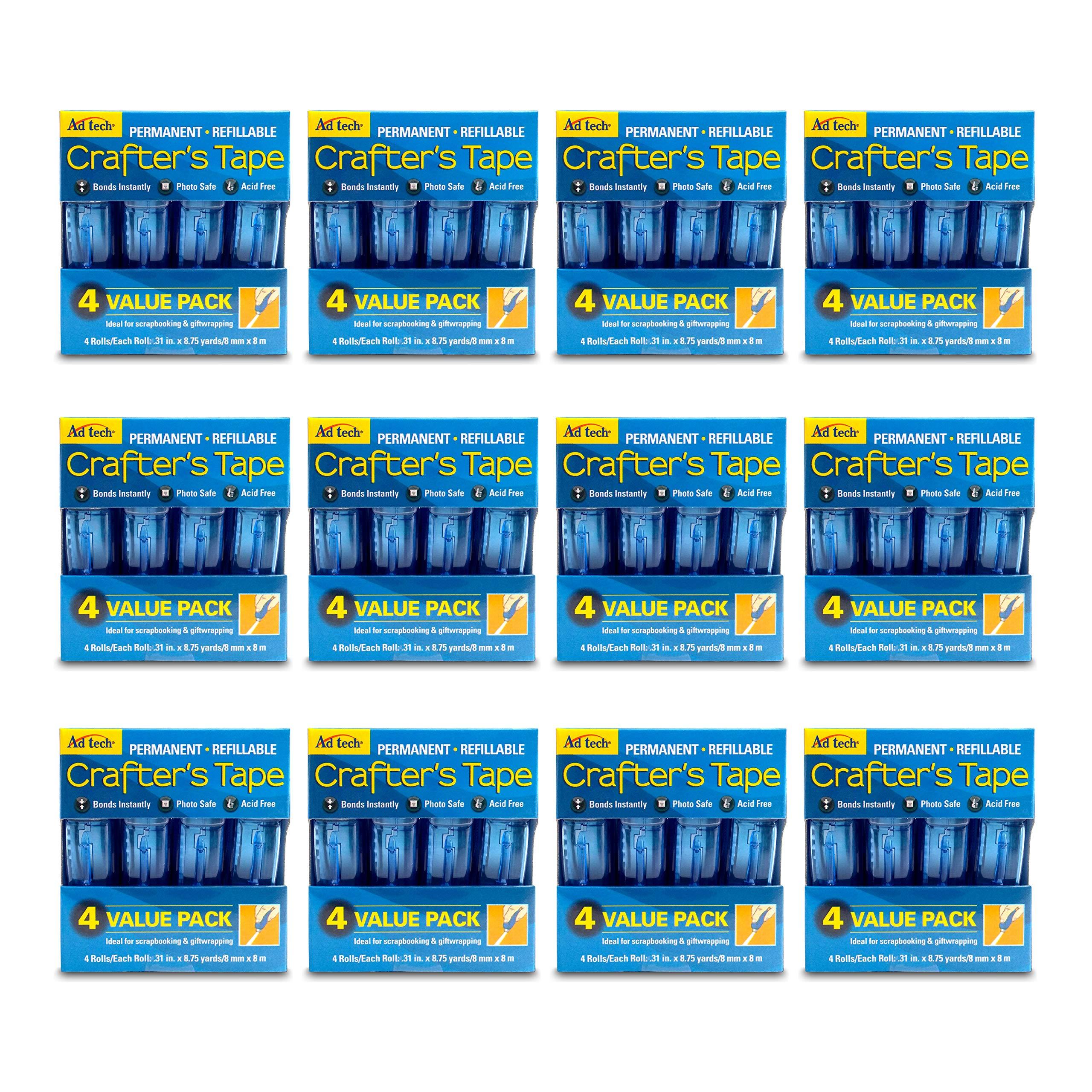 AdTech 05603-CASE Glue Runner For Scrapbooking Supplies, case pack, Clear 12 4pk cartridges by AdTech
