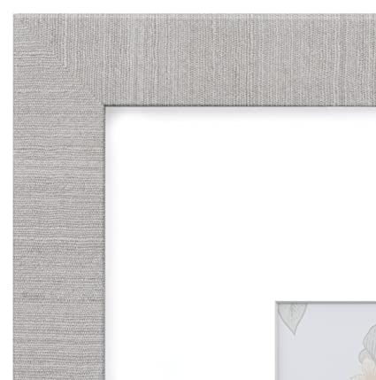 Amazon.com - 12x16 Picture Frame Modern Gray - Matted for 8x12 ...