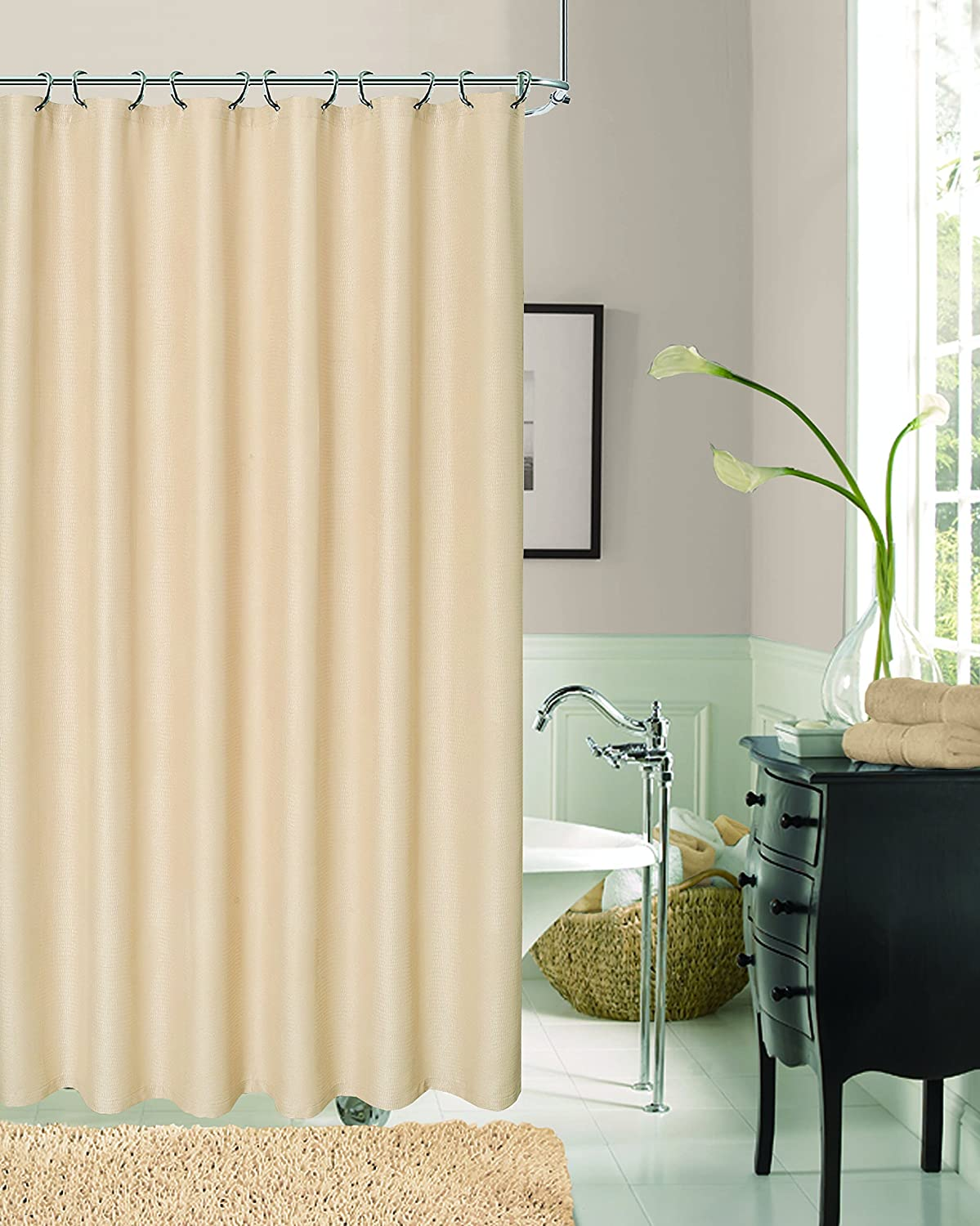 Bronze 70x72 Dainty Home CROCSBR Textured Shower Curtain