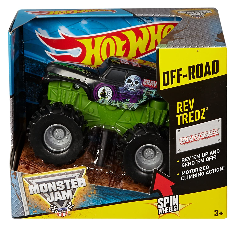amazon com wheels monster jam rev tredz grave digger truck