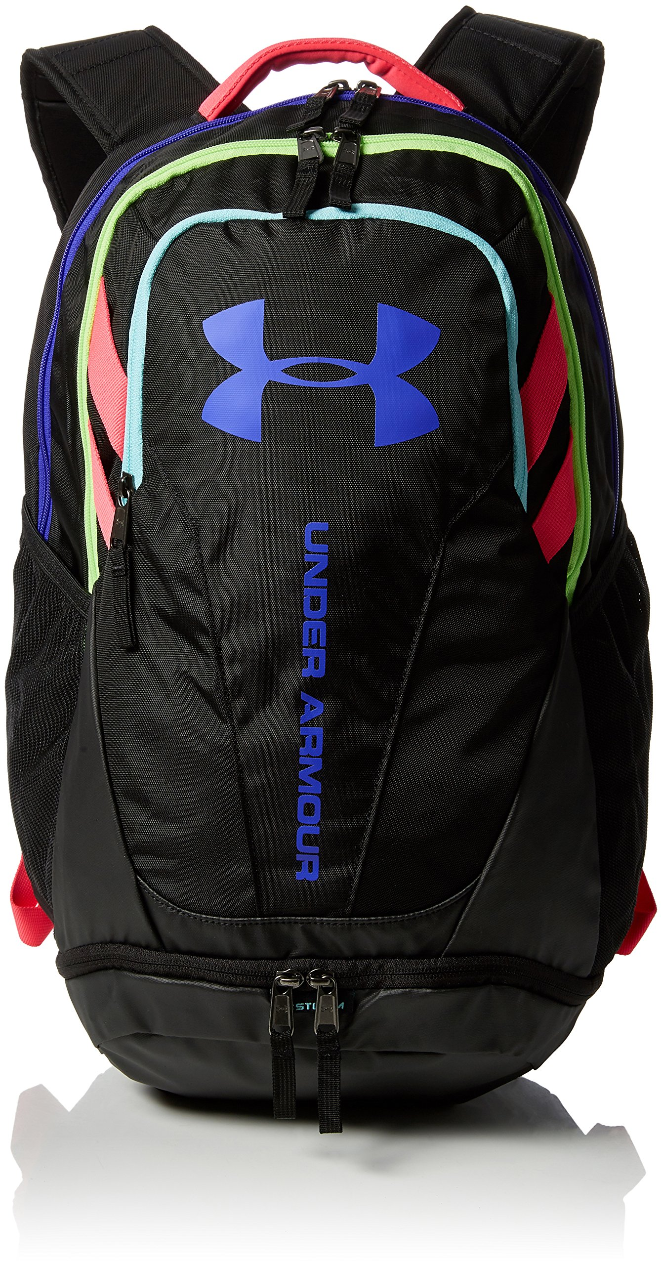 Under Armour Hustle 3.0 Backpack, Black/Black/Constellation Purple, One Size