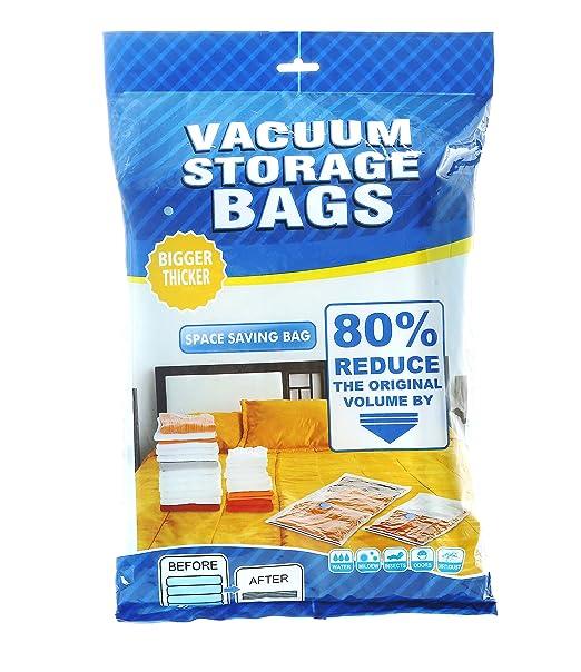ALPHA HOME Bolsa de almacenamiento al vacío con bomba de mano para bolsas de viaje para ahorrar espacio: Amazon.es: Hogar