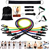 EXEFIT Fitness Exercise Bands Workouts Resistance bands/tubes/tubing With Door Anchor ,Ankle Strap,Handle ,Extra Strap , Resistance bands and Carry Bag For Total Body Exercise
