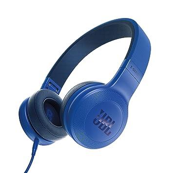 JBL E35 - Auriculares Supraaurales en el Diseño Plegables con Universal de 1 Botones de Mando a Distancia y Micrófono extraíble Cable, Azul: Amazon.es: ...