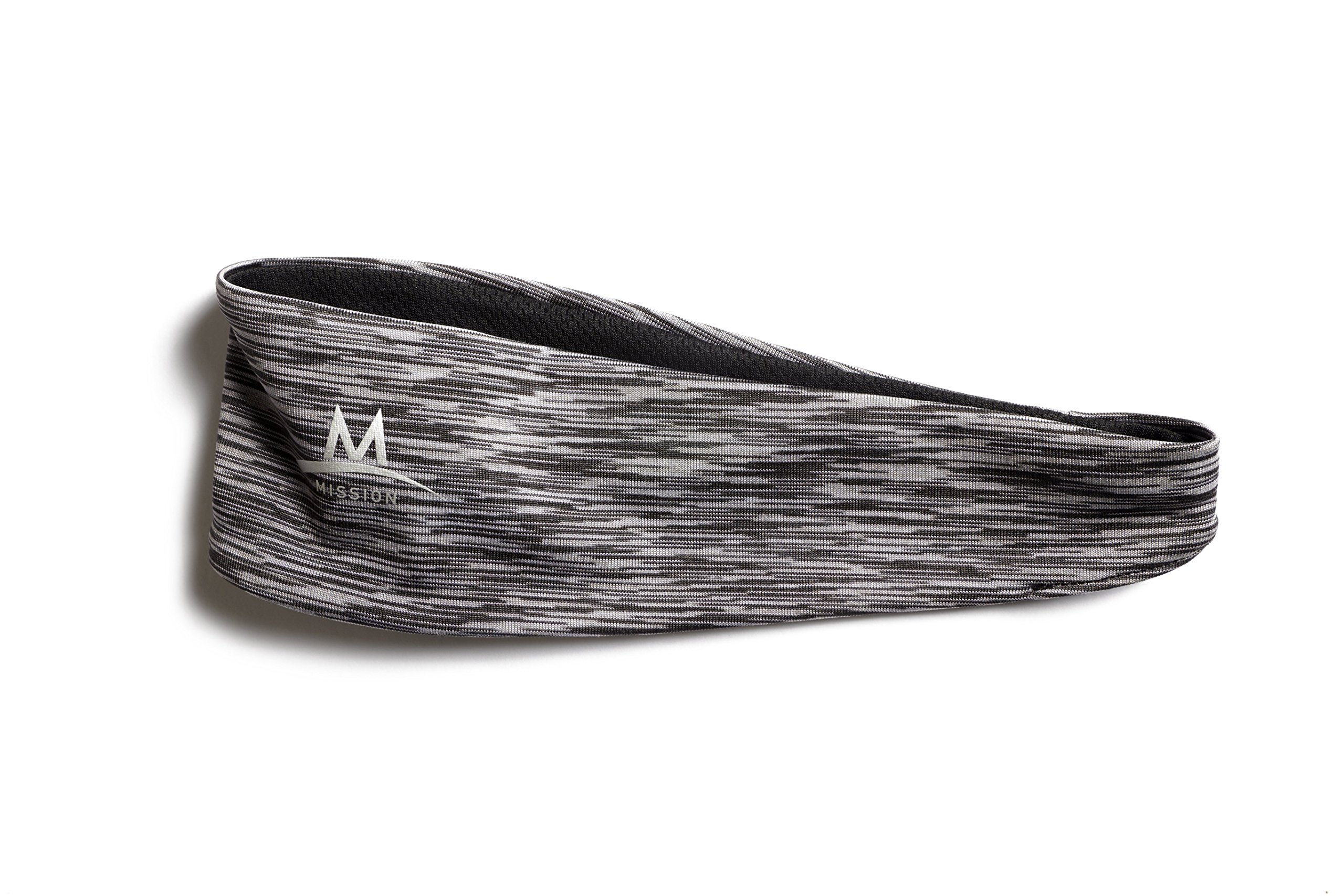 Mission Enduracool Lockdown Cooling Headband, Charcoal Space Dye