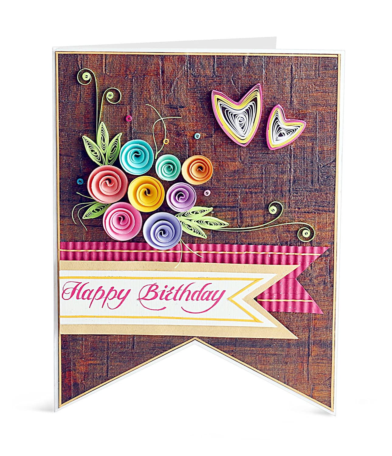 Handcrafted Emotions Handmade Birthday Greeting Card Amazon