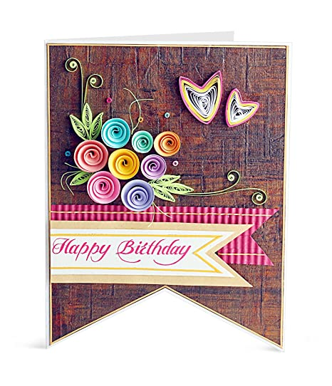 Handcrafted Emotions Handmade Birthday Greeting Card Amazon In