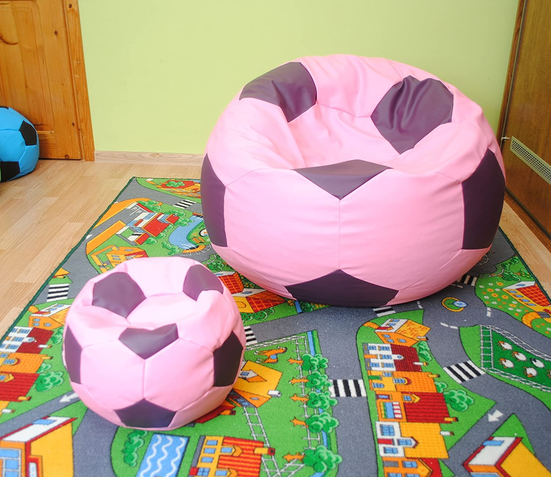 articolicasaonline Set 2 puf, Puf, Cab, Bean bagfootball, balón ...