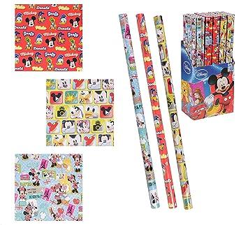 48a573195f0cc Lot de 6 Rouleau de papier cadeau Disney Mickey Minnie - Modèle Aléatoire -  Noel Emballage