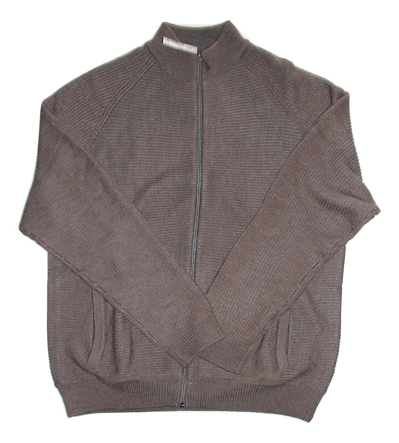 e1bc79e56 Amazon.com: Joseph Abboud Taupe Full-Zip Sweater, Brown: Clothing