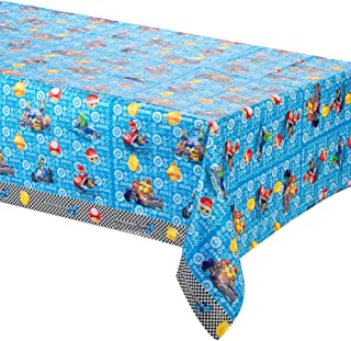 256 & amscan 571554 1.2 x 1.8 m Super Mario Plastic Table Cover: Amazon.co ...