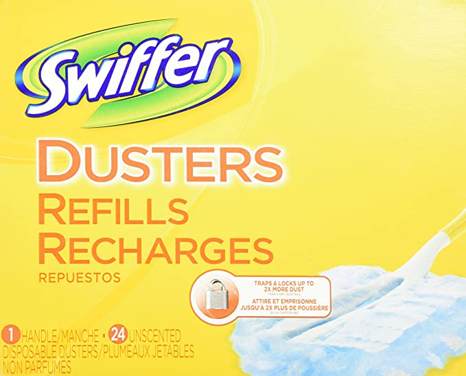 New 24PK Swiffer Dusters Refills Recharges  Unscented Duster Refills 1 Handle