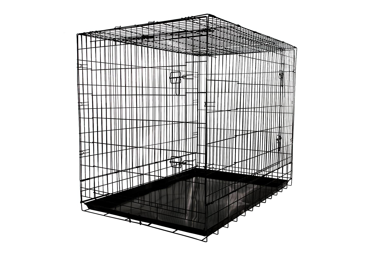 Amazon.com : Allmax 3-Door Folding Metal Dog Crate with Steel Tray ...