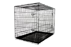 Allmax 3-Door Folding Metal Dog Crate