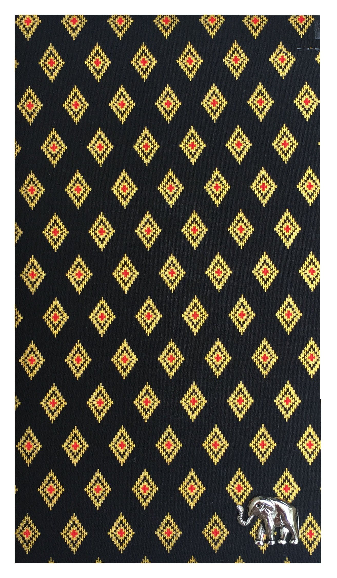 Black Thai Patterned Guest Check Presenter, Check Book Holder for Restaurant, Checkbook Cover, Waitstaff Organizer, Server Book for Waiters with Money Pocker (With Plastic Cover) by Kathy