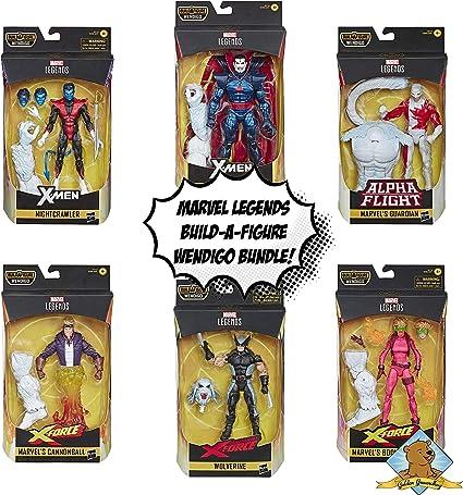 Colección Legends Series Build A Figure Wendigo – Nightcrawler – Wolverine – Cannonball – Boom-Boom – Guardián – Mister Sinister Bundle Vendido por Golden Groundhog: Amazon.es: Juguetes y juegos