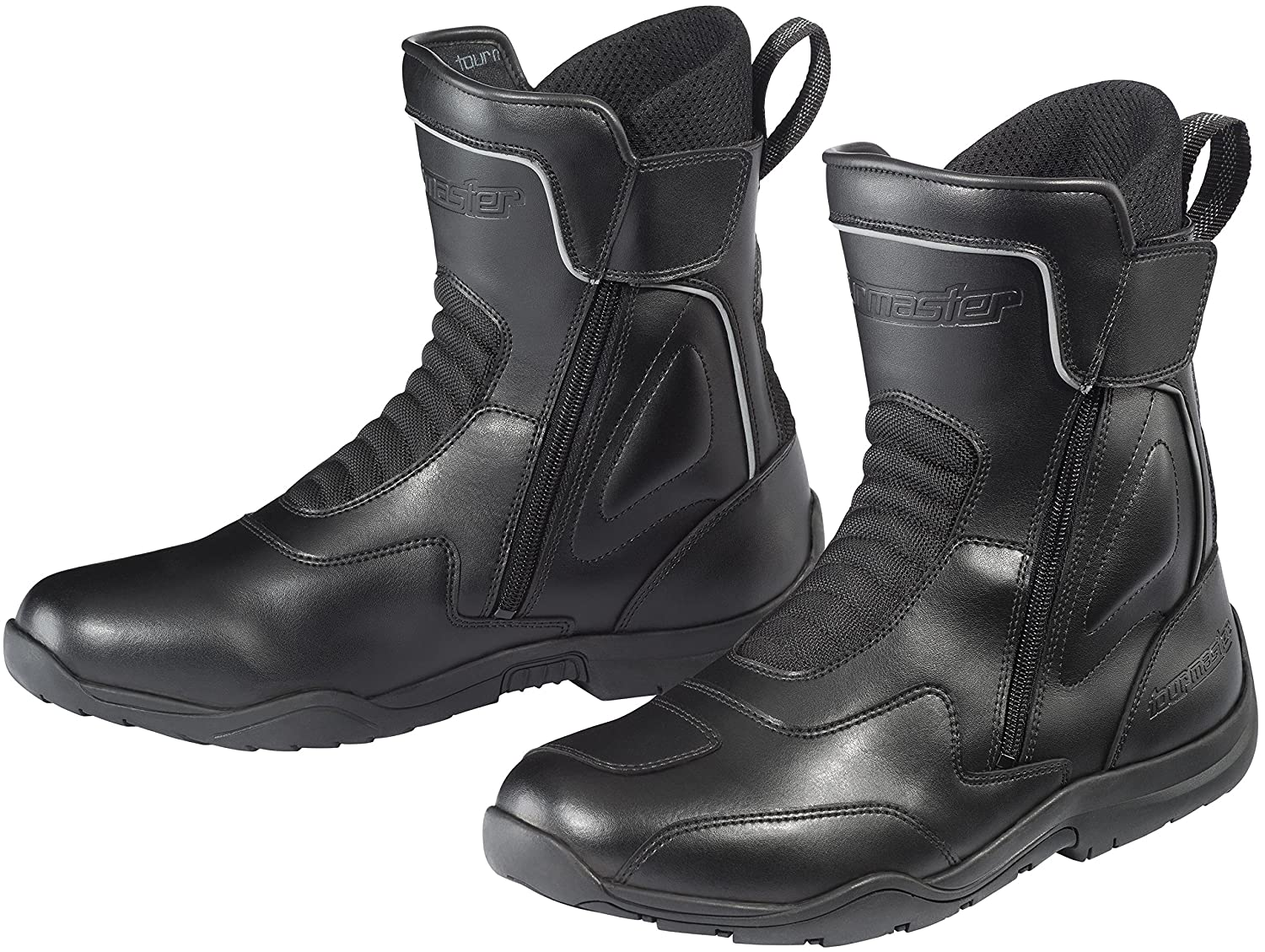 Tourmaster Flex WP Mens Dual Zip Motorcycle Boots 11