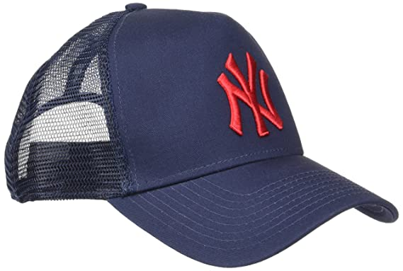22d67363566 New Era - Men s League Essential New York Yankees 9FORTY A-Frame Trucker Cap