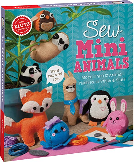 Amazon Com Klutz Sew Mini Animals Toy Editors Of Klutz Toys Games