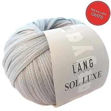 Lang Yarns Wolle Lang Yarns Bändchengarn Sol Luxe In Hellblau Fb