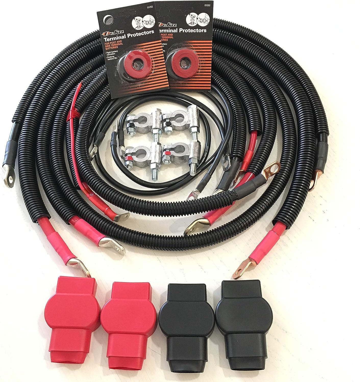 Amazon Com 2003 2007 Gen 3 Dodge Ram 5 9l 24 Valve Cummins Battery Cable Cables Set Kit Automotive