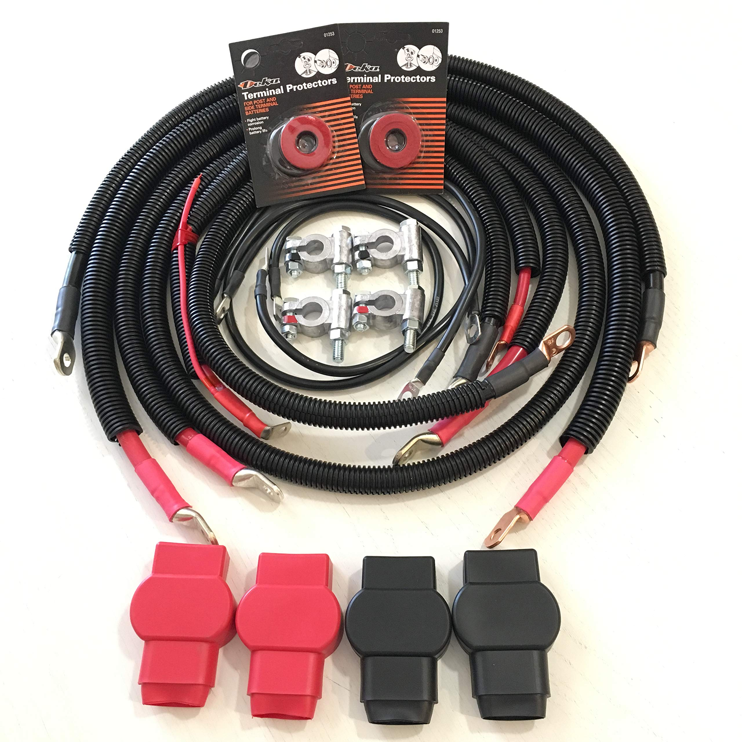 2003-2007 Gen 3 Dodge Ram 5.9L 24 valve Cummins Battery Cable Cables Set Kit by Custom Battery Cables