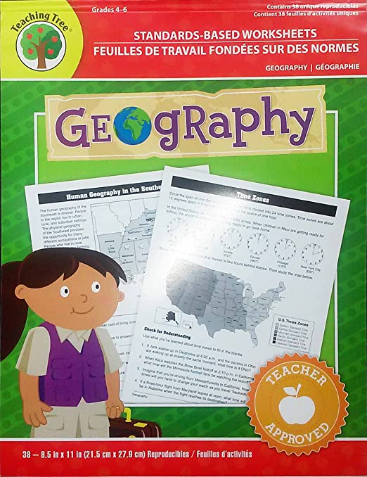 Amazon.com : Standards-based Worksheets Grades 4-6 (Geography ...