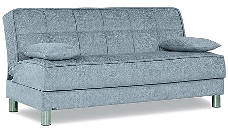 SMART FIT Futon Sofa Bed (Silver)