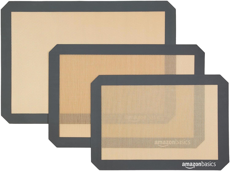 AmazonBasics Silicone Baking Mat, 4-Pack AOKE-8804
