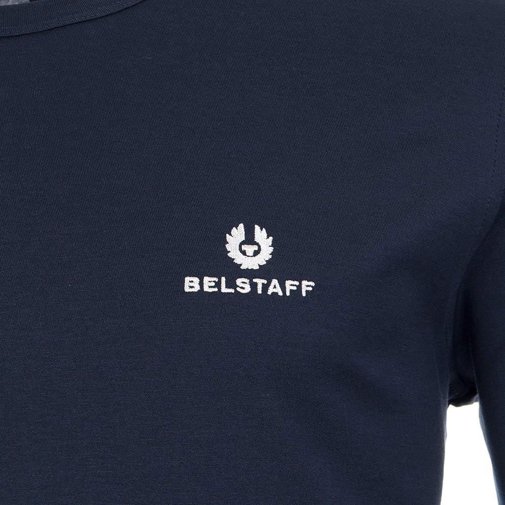 germen Mordrin asustado  Belstaff - Camiseta de manga larga con logotipo: Amazon.es: Ropa y  accesorios