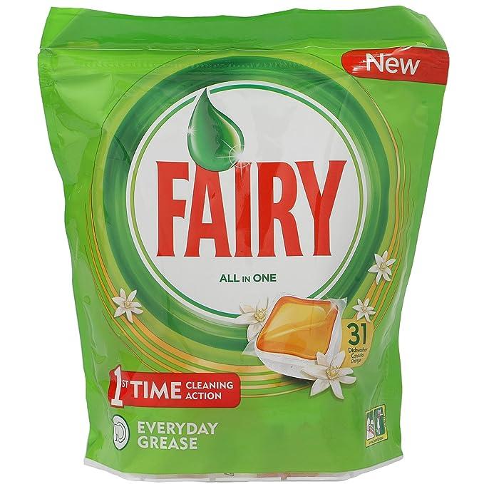 FAIRY lavavajillas máquina todo en uno en cápsulas bolsa 31 ...