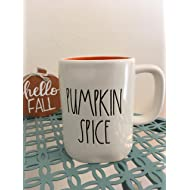 Rae Dunn Pumpkin Spice and Heart Mug (Orange Inside) - Artisan Collection