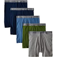 Hanes Men's 5-Pack Ultimate FreshIQ Boxer with ComfortFlex Waistband