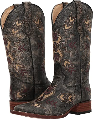 68693511135 Image Unavailable. Image not available for. Color  Circle G Women s  Distressed Arrowhead Cowgirl Boot ...