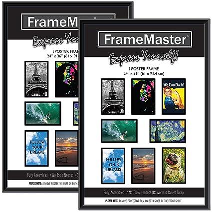 Amazoncom Framemaster 24x36 Poster Frame 2 Pack Black Pre