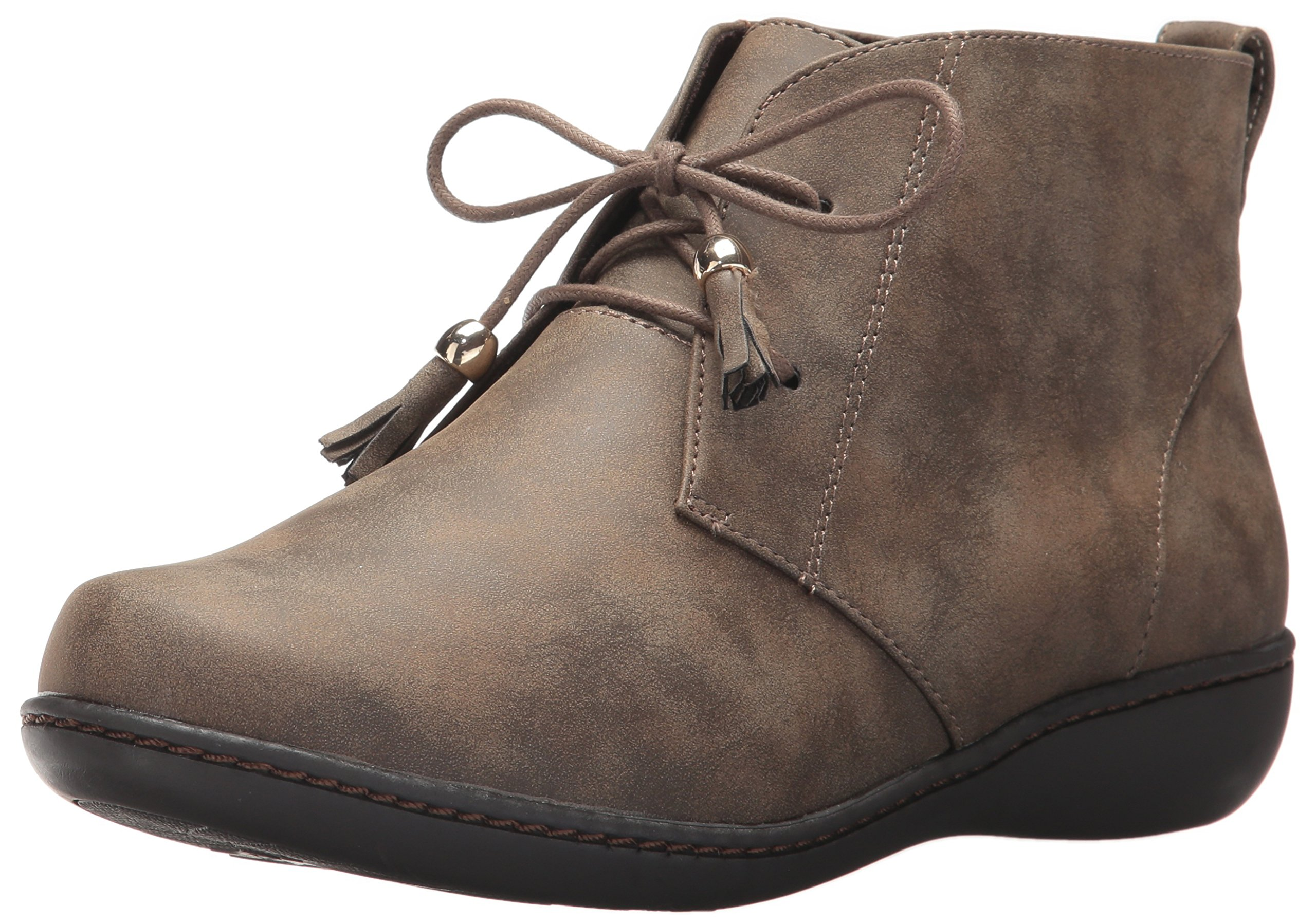 Soft Style by Hush Puppies Women's Jinger Ankle Bootie, Taupe Evening Nubuck, 8 N US