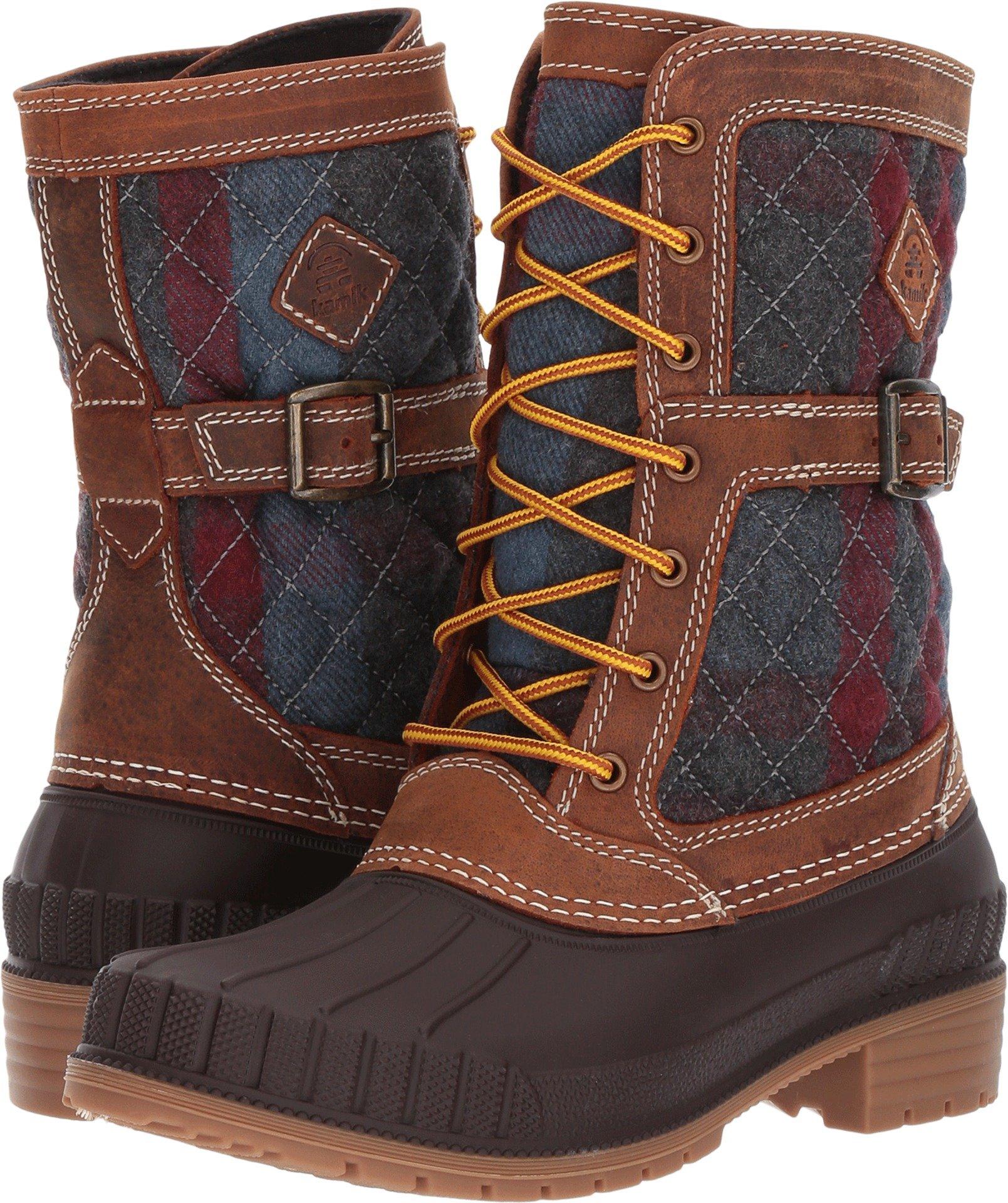 Kamik Women's Sienna Waterproof Winter Boot Brown 7 M US