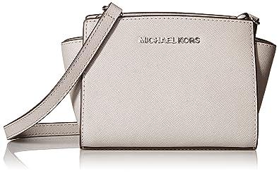 c5769fcd2d53 MICHAEL Michael Kors Selma Mini Messenger Bag Pearl Grey silver ...