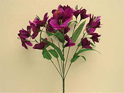 Amazon phoenix silk purple alstroemeria bush artificial silk phoenix silk purple alstroemeria bush artificial silk flowers 20quot mightylinksfo