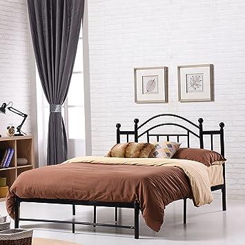 Vintage inspired bedroom furniture Scandi Image Unavailable Amazoncom Amazoncom Premium Platform Bed Elegant Vintageinspired Design