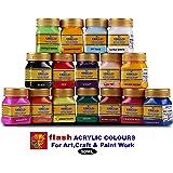 Flash Acrylic Colour Set (16 Colours) 50 ML