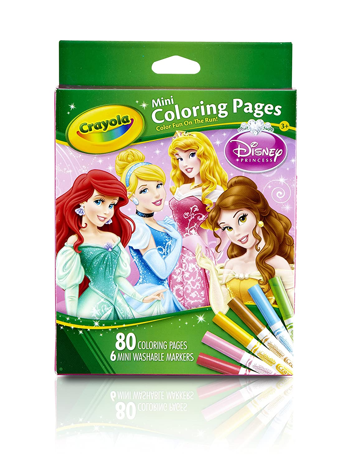 amazoncom crayola crayola mini coloring pages disney princess toy toys games