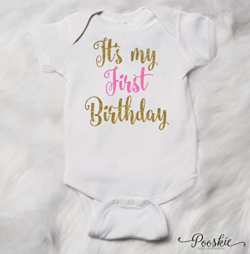 First Birthday Bodysuit 1st Shirt Its My Outfit Party Gold
