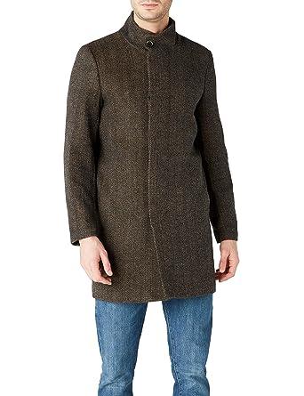 2c862fec59222 Koton Erkek Palto Kaban, Kahverengi, S (Üretici ölçüsü: S): Amazon ...
