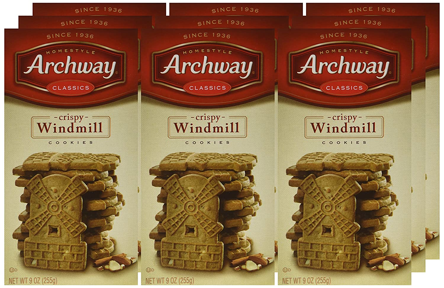 Amazon.com : Archway Crispy Windmill Cookies, 9 Ounce (Pack of 9 ...
