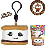 Whiffer Squishers 'Jimmy S'More' Slow Rising Squishy Toy Chocolate S'More Scented Backpack Clip