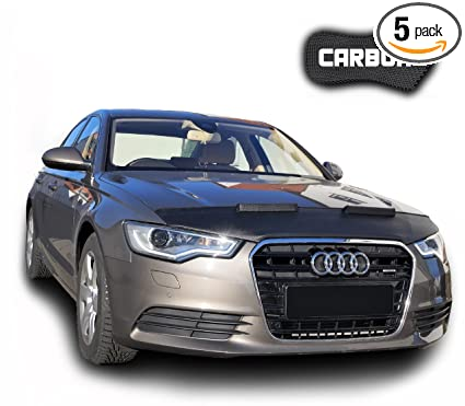 Hood Bra for Audi A6 C7 CARBON Bonnet Car Bra Front End Cover Nose Mask  Stoneguard Protector TUNING